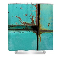 4 Square Shower Curtain by Fran Riley