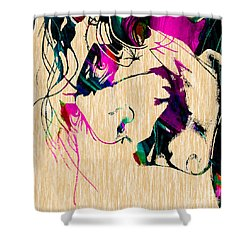 The Joker Heath Ledger Collection Shower Curtain by Marvin Blaine