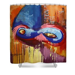 40 Days And 40 Nights Shower Curtain by Anthony Falbo