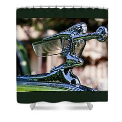 41 Packard Badge Shower Curtain by Alan Look