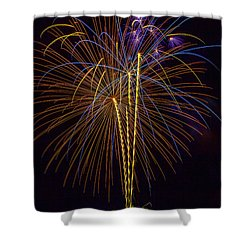 4th July #14 Shower Curtain by Diana Powell