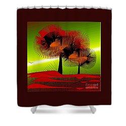 Autumn Colours Shower Curtain by Iris Gelbart