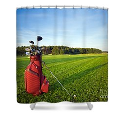 Golf Gear Shower Curtain by Michal Bednarek
