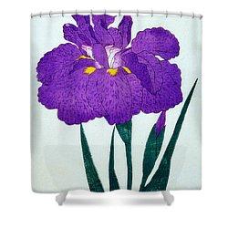 Japanese Flower Shower Curtain by Japanese School
