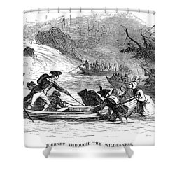 Quebec Expedition, 1775 Shower Curtain by Granger