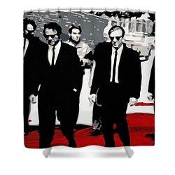 Reservoir Dogs Shower Curtain by Luis Ludzska