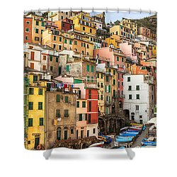 Riomaggiore Shower Curtain by Joana Kruse