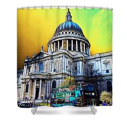 St Pauls Cathedral London Art Shower Curtain by David Pyatt