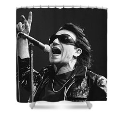 U2 - Bono Shower Curtain by Concert Photos