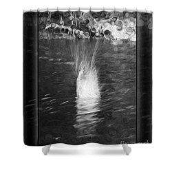 50 Shades Of Grey Abstract Black And White Painting Shower Curtain by Omaste Witkowski