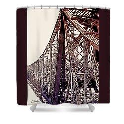 59th Street Bridge - Nyc Shower Curtain by Linda  Parker