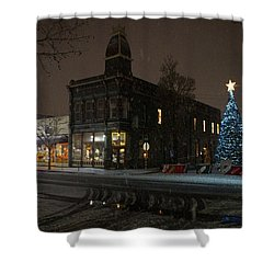 5th And G At Christmas 2012 No2 Shower Curtain by Mick Anderson