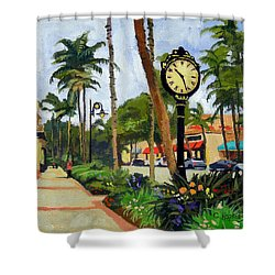 5th Avenue Naples Florida Shower Curtain by Christine Hopkins