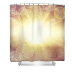 Bright Background  Shower Curtain by Les Cunliffe