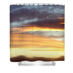Bright Sky Shower Curtain by Les Cunliffe