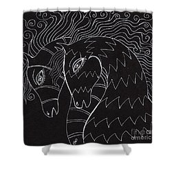 Horses Shower Curtain by Angel  Tarantella