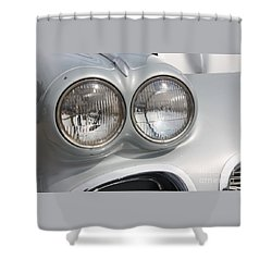 61 Corvette-grey-headlights-9235 Shower Curtain by Gary Gingrich Galleries