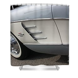 61 Corvette-grey-sidepanel-9241 Shower Curtain by Gary Gingrich Galleries