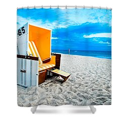 65 Invites Shower Curtain by Hannes Cmarits