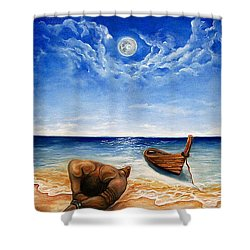 Home Shower Curtain by Emery Franklin