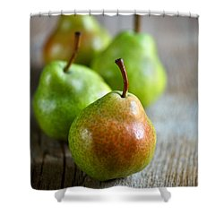 Pears Shower Curtain by Nailia Schwarz