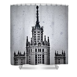 7 Towers Of Moscow Shower Curtain by Stelios Kleanthous