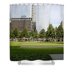 9/11 Grass Shower Curtain by Rob Hans