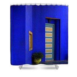 Majorelle Garden Marrakesh Morocco Shower Curtain by Ralph A  Ledergerber-Photography