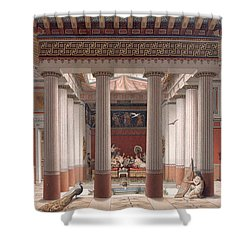 A Banquet In Ancient Greece Shower Curtain by Nordmann