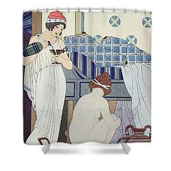 A Bath Seat Shower Curtain by Joseph Kuhn-Regnier