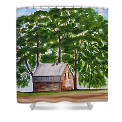 A Beautiful Place On Earth Shower Curtain by Christine Huwer