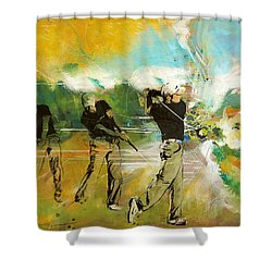 A Brilliant Shot Shower Curtain by Catf