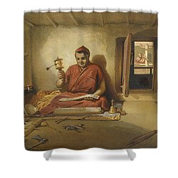 A Buddhist Monk, From India Ancient Shower Curtain by William 'Crimea' Simpson