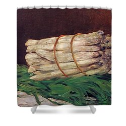 A Bunch Of Asparagus Shower Curtain by Edouard Manet