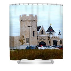 A Cheese Castle Shower Curtain by Kay Novy