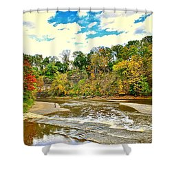 A Cleveland Autumn Shower Curtain by Frozen in Time Fine Art Photography