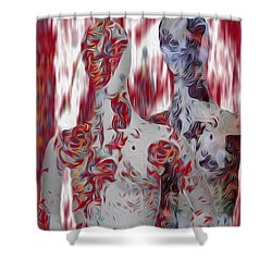A Couple Shower Curtain by Jack Zulli