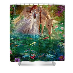 A Curious Introduction Shower Curtain by Aimee Stewart
