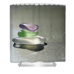 A Delicate Balance Shower Curtain by Barbara McMahon