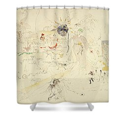 A Dream In Absinthe, 1890 Shower Curtain by Charles Edward Conder