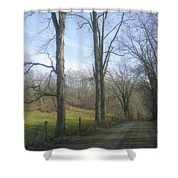 A Drive In The Country Shower Curtain by R A W M