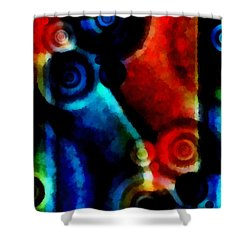 A Drop In The Puddle 1 Shower Curtain by Angelina Vick