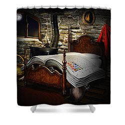 A Fairytale Before Sleep Shower Curtain by Alessandro Della Pietra