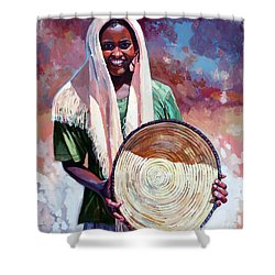 A Girl From The Countryside Shower Curtain by Mohamed Fadul