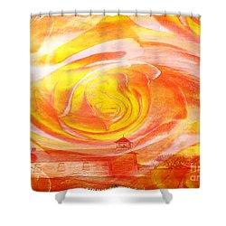 A Glorious God Shower Curtain by PainterArtist FIN