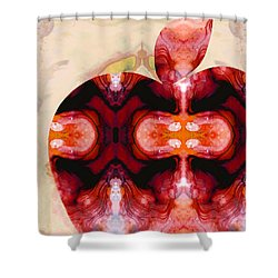 A Good Apple - Fruit Art By Sharon Cummings Shower Curtain by Sharon Cummings