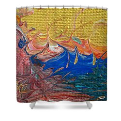 A Good Day For Sailing Shower Curtain by Donna Blackhall