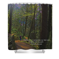 A Light Unto My Path Shower Curtain by Charles Robinson