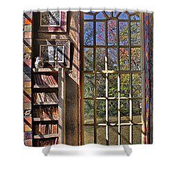 A Look From The Library Shower Curtain by Susan Candelario