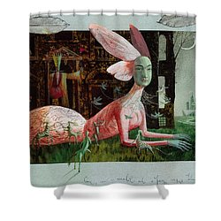 A Midsummer Night's Dream Shower Curtain by Victoria Fomina